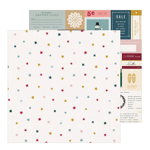 Crate Paper - Snowflake Collection - 12 x 12 Double Sided Paper - Marshmallow