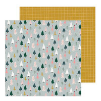 Crate Paper - Snowflake Collection - 12 x 12 Double Sided Paper - Spruce
