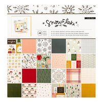 Crate Paper - Snowflake Collection - 12 x 12 Paper Pad