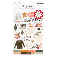 Crate Paper - Snowflake Collection - Clear Sticker Book with Foil Accents