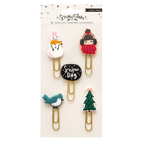 Crate Paper - Snowflake Collection - Rubber Paper Clips