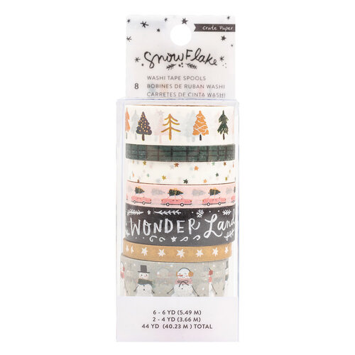 Crate Paper - Snowflake Collection - Washi Tape with Foil Accents