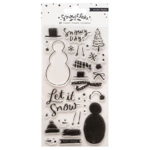 Crate Paper - Snowflake Collection - Clear Acrylic Stamps