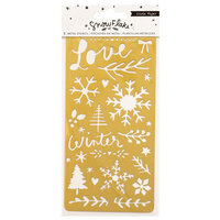 Crate Paper - Snowflake Collection - Copper Metal Stencil