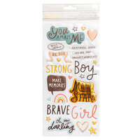 Crate Paper - Magical Forest Collection - Thickers - Phrase - Brave