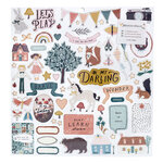 Crate Paper - Magical Forest Collection - 12 x 12 - Chipboard Stickers with Foil Accents