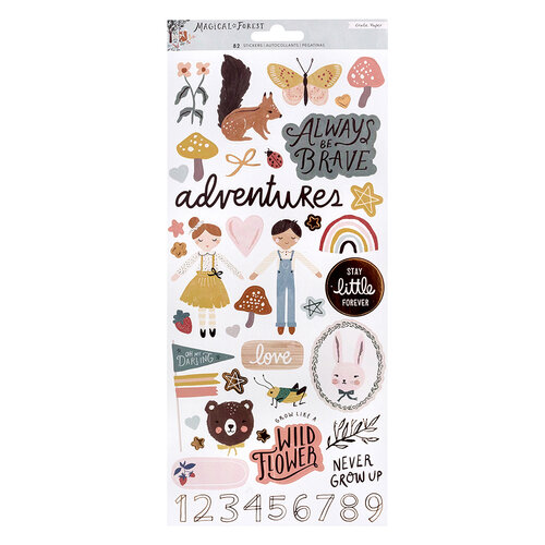 Crate Paper - Magical Forest Collection - 6 x 12 - Stickers