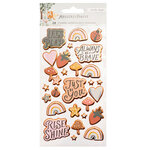 Crate Paper - Magical Forest Collection - Puffy Stickers - Phrases and Icons