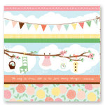 American Crafts - Dear Lizzy Spring Collection - 12 x 12 Fabric Paper - Garden Gala, CLEARANCE