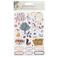 Crate Paper - Magical Forest Collection - Clear Sticker Book with Foil Accents - Waterfall
