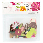American Crafts - New Day Collection - Die Cut Wood Veneer Piece with Foil Accents