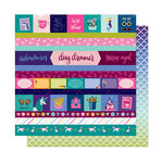American Crafts - Head in The Clouds Collection - 12 x 12 Double Sided Paper - All A Dream