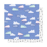 American Crafts - Head in The Clouds Collection - 12 x 12 Double Sided Paper - Castles On Clouds