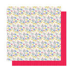 American Crafts - Head in The Clouds Collection - 12 x 12 Double Sided Paper - She's A Wildflower
