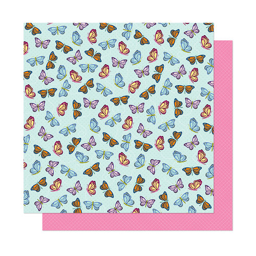 American Crafts - Head in The Clouds Collection - 12 x 12 Double Sided Paper - Let