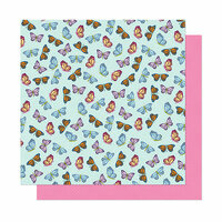 American Crafts - Head in The Clouds Collection - 12 x 12 Double Sided Paper - Let's Dream
