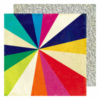 American Crafts - Color Kaleidoscope Collection - 12 x 12 Double Sided Paper - Kaleidoscope