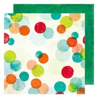 American Crafts - Color Kaleidoscope Collection - 12 x 12 Double Sided Paper - Pop Dots