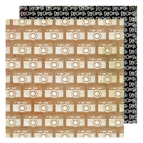 American Crafts - Color Kaleidoscope Collection - 12 x 12 Double Sided Paper - Say Cheese
