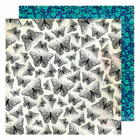 American Crafts - Color Kaleidoscope Collection - 12 x 12 Double Sided Paper - Flight of Fancy