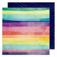 American Crafts - Color Kaleidoscope Collection - 12 x 12 Double Sided Paper - Chasing Rainbows