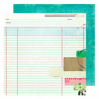 American Crafts - Color Kaleidoscope Collection - 12 x 12 Double Sided Paper - Side Note