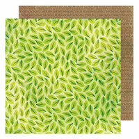 American Crafts - Color Kaleidoscope Collection - 12 x 12 Double Sided Paper - Scattered Leaves