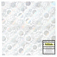 American Crafts - Color Kaleidoscope Collection - 12 x 12 Vellum with Foil Accents