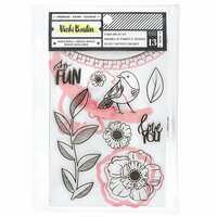 American Crafts - Color Kaleidoscope Collection - Dies and Clear Acrylic Stamps - So Fun