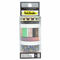 American Crafts - Color Kaleidoscope Collection - Washi Tape Set with Foil Accents