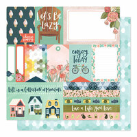 1 Canoe 2 - Saturday Afternoon Collection - 12 x 12 Double Sided Paper - Afternoon Clips