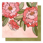 1 Canoe 2 - Saturday Afternoon Collection - 12 x 12 Double Sided Paper - Pink Peony