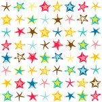 American Crafts - Heat Wave Collection - 12 x 12 Double Sided Paper with Glitter Accents - Citrus Chill, CLEARANCE