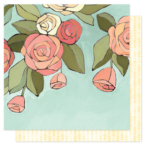 1 Canoe 2 - Saturday Afternoon Collection - 12 x 12 Double Sided Paper - Afternoon Roses