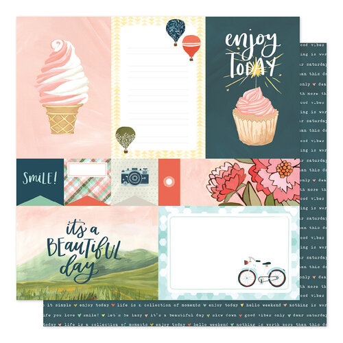 1 Canoe 2 - Saturday Afternoon Collection - 12 x 12 Double Sided Paper - Treats & Trips