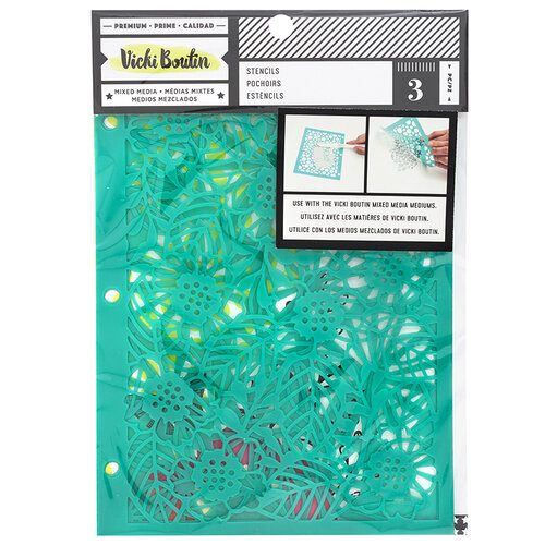 American Crafts - Color Kaleidoscope Collection - Stencils - Botanical