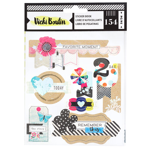 American Crafts - Color Kaleidoscope Collection - Sticker Book with Foil Accents