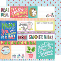 American Crafts - Stay Sweet Collection - 12 x 12 Double Sided Paper - Hello Sweetness