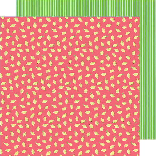 American Crafts - Stay Sweet Collection - 12 x 12 Double Sided Paper - Pink Lemon Party