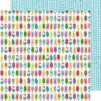 American Crafts - Stay Sweet Collection - 12 x 12 Double Sided Paper - Popsicle Summer