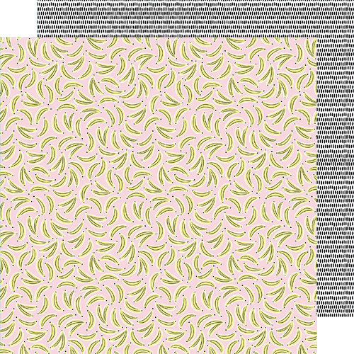 American Crafts - Stay Sweet Collection - 12 x 12 Double Sided Paper - Go Bananas