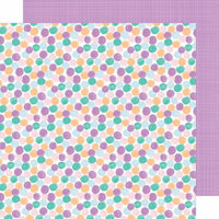 American Crafts - Stay Sweet Collection - 12 x 12 Double Sided Paper - Gum Drop Goodies