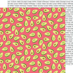 American Crafts - Stay Sweet Collection - 12 x 12 Double Sided Paper - Everyday Avocados