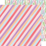 American Crafts - Stay Sweet Collection - 12 x 12 Double Sided Paper - Candy Stripe