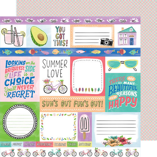 American Crafts - Stay Sweet Collection - 12 x 12 Double Sided Paper - Summer Love