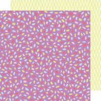 American Crafts - Stay Sweet Collection - 12 x 12 Double Sided Paper - Magenta Fiesta