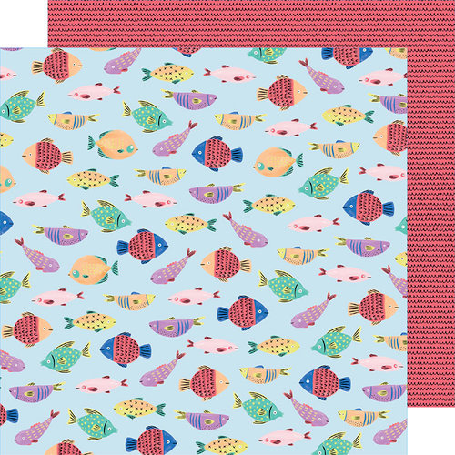 American Crafts - Stay Sweet Collection - 12 x 12 Double Sided Paper - Fish Fun