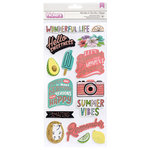 American Crafts - Stay Sweet Collection - Thickers - Foam - Blush Foil - Phrases and Icons - Roll With It