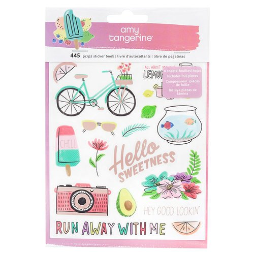 American Crafts - Stay Sweet Collection - Sticker Book with Foil Accents