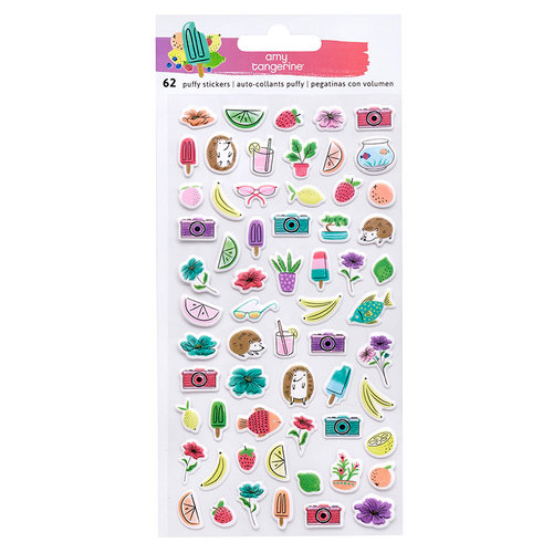 American Crafts - Stay Sweet Collection - Mini Puffy Stickers